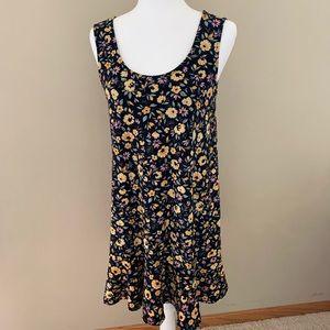 Mango basics floral scoop neck mini dress